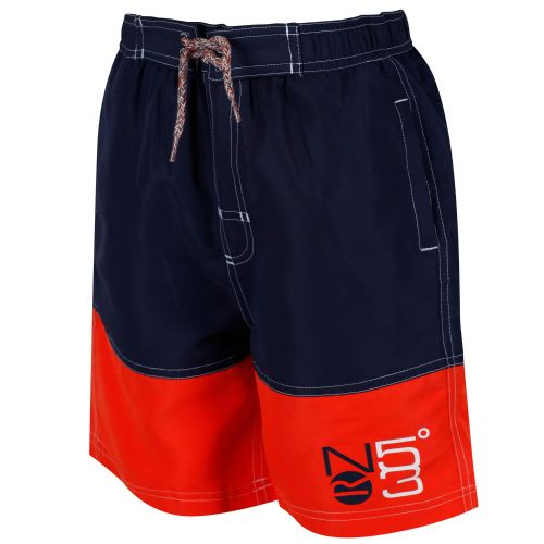 Regatta SHAUL SWIMMING SHORTS - Navy / Amber Glow